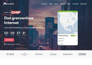 NordVPN-Startseite