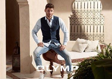 Hol' dir deinen OLYMP-Gutschein und statte dich männlich gut aus