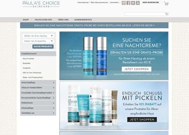 Paula's Choice Startseite