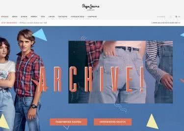 Die Pepe-Jeans-Startseite