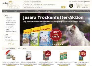 Die Website von pets Premium