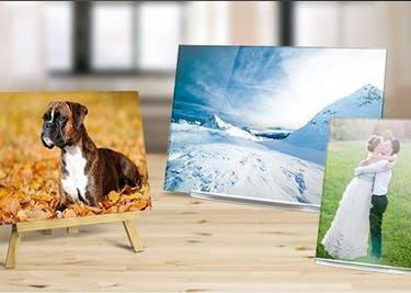Deine persönlichen Fotos auf Leinwand oder hinter Glas