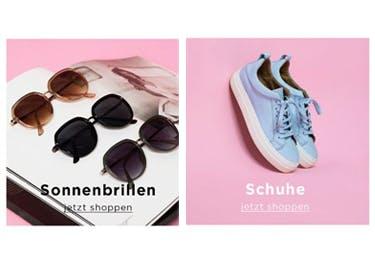 Auch Sonnenbrillen und Schuhe werden mit einem Gutschein für PIECES zu einem echten Schnäppchen
