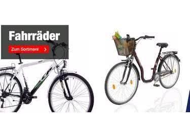 Fahrräder, Möbel und andere Schnäppchen mit Quelle-Gutschein