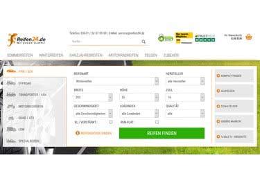 Finde die geeigneten Reifen für Auto und Motorrad und spre mit einem reifen24.de-Gutschein