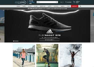 SportsShoes-Startseite