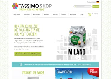 Spare bei der Bestellung deines Kaffees mit einem Tassimo-Gutschein