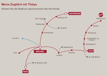 Reise günstig durch Europa mit einem Thalys-Gutschein