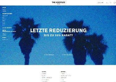 Startseite von The Kooples