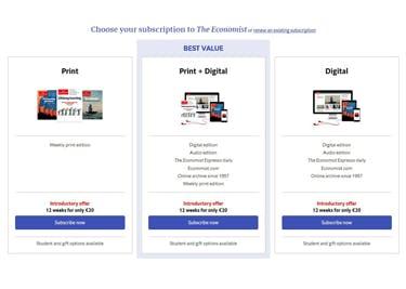 Wähle zwischen der Print- und/oder Web-Version