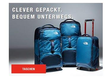 Auch Taschen und Rucksäcke für den Outdoor-Trip werden mit einem The-North-Face-Gutschein günstiger