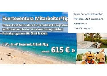 Informiere dich über Urlaubsaktionen, um deine nächste Reise zum Sparpreis zu buchen