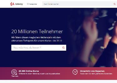 Udemy Startseite