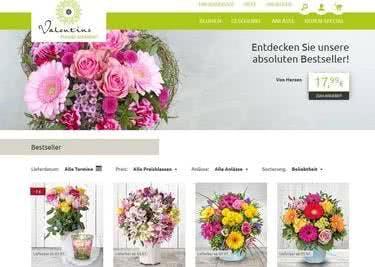 Bei Valentins gibt es zahlreiche Blumen-Kreationen.
