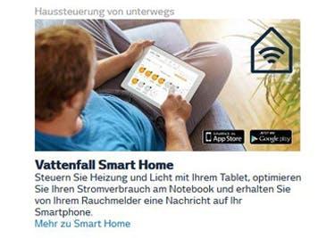 Günstig wird der Smart-Home-Komfort mit einem Vattenfall-Gutschein