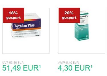 Bei Versandapotheke.de ergatterst du viele Arzneien zu einem Aktionspreis