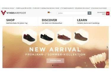 Die Vivobarefoot-Startseite