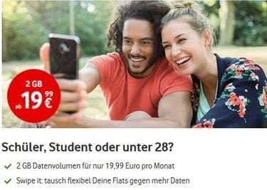 So günstig mit Vodafone unterwegs.