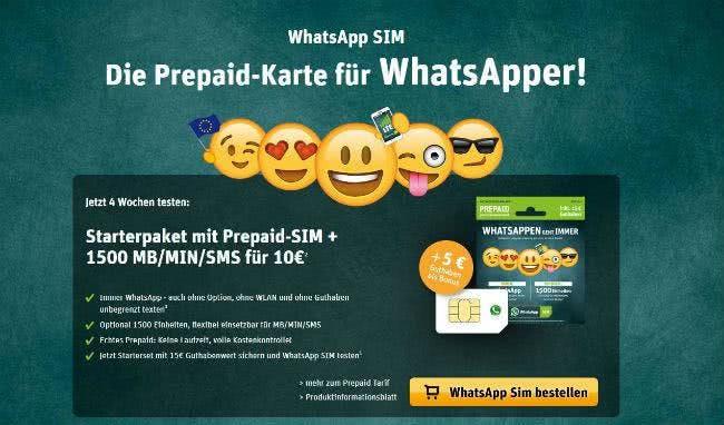 Spare mit einem Gutschein bei WhatsApp SIM