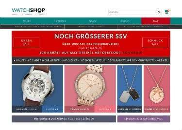 Uhren und Schmuck bei WATCHSHOP kaufen