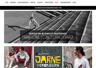 Blowout Startseite