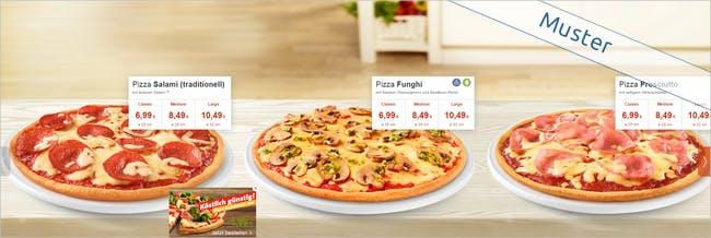 Pizza in diversen Groessen bei Joey's Pizza bestellen