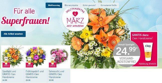 Blumen für Superfrauen preiswert bestellen mit Lidl-Blumen-Gutschein