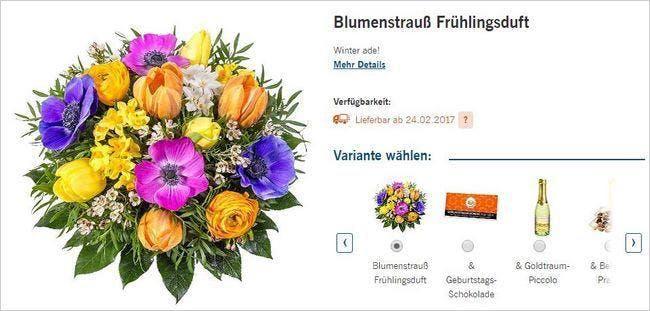 Hier findet ihr einen Blumenstrauß zu jeder Jahreszeit und zu jedem Anlass