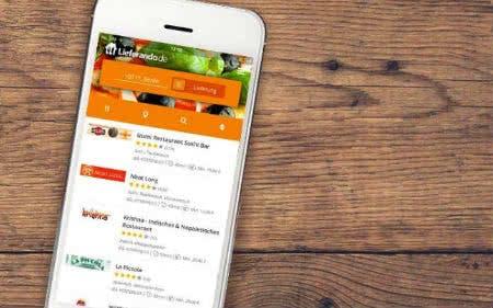 Bestelle ganz einfach mit der Lieferando-App