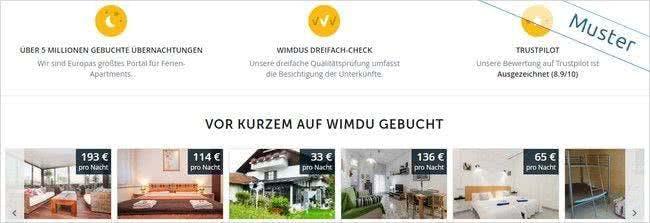Wimdu Screen