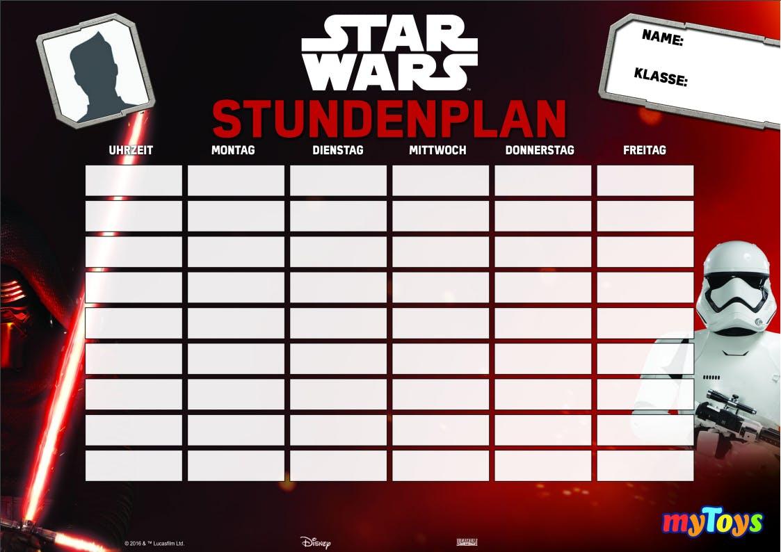 Kostenloser Stundenplan Star Wars