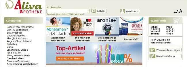 Deutsche Markenmedikamente günstiger bestellen bei Aliva