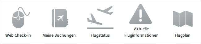 Service-Angebote von Austrian Airlines