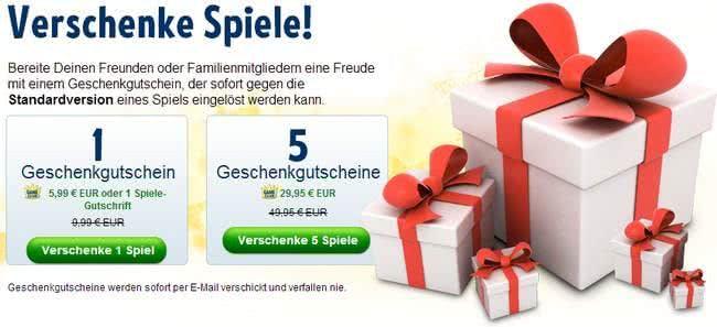 Geschenkgutscheine von Big Fish Games
