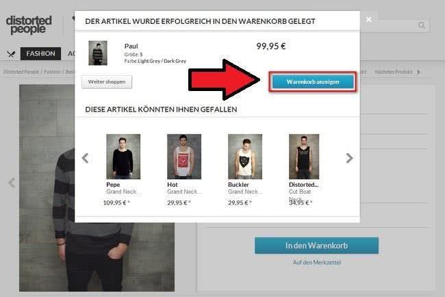 Distorted People bietet verschiedene Liefermethoden an: Ihr könnt eure Bestellung auch an eine Packstation senden lassen