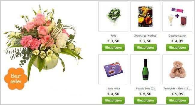 Extras mitbestellen bei BlumenOnline: So wird euer Strauß ein Unikat