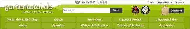 Zahlreiche Produktkategorien rund um den Garten im Gartentotal-Online-Shop