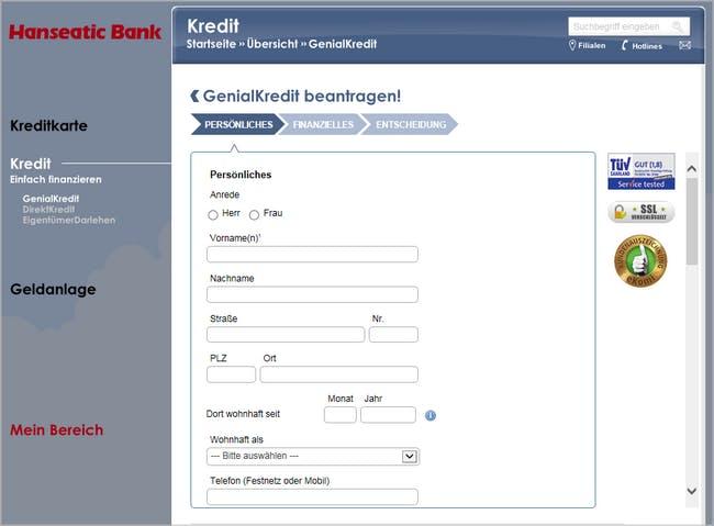 So beantragt ihr die GenialCard bei der Hanseatic Bank