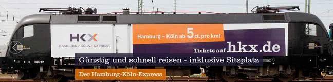 Günstig Zugfahren mit HKX