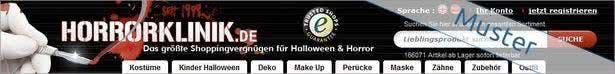 Horrorklinik ist ein Online-Shop für Halloween, Karneval, Gothic Fashion und mehr