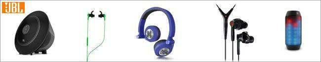 Kopfhörer und Lautsprecher von JBL