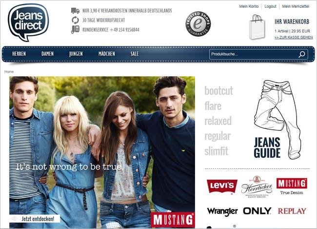 Startseite von Jeans-direct