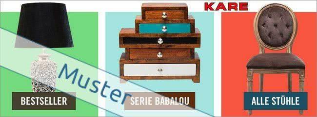 Möbel und Wohnaccessoires in ausgefallenen Designs bekommt ihr bei KARE
