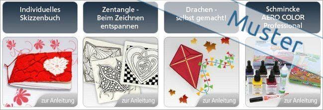 Kurzanleitungen bei Kreativ.de für eure künstlerischen Vorhaben