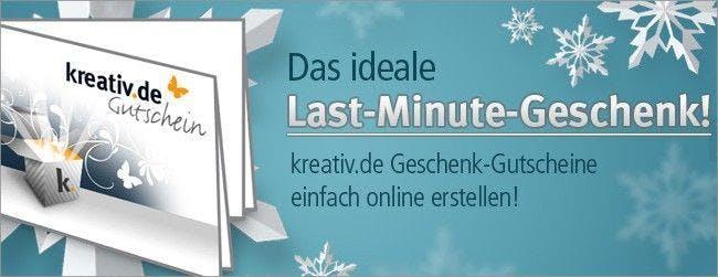 Kreativ.de bietet kreative Gutscheine zum Verschenken