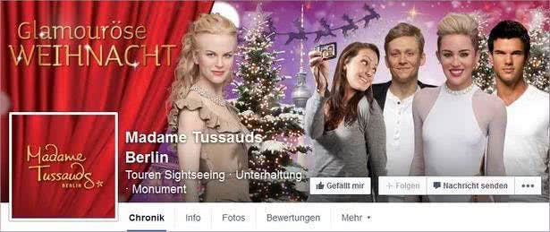 Bei Facebook hält euch Madame Tussaud immer up to date.