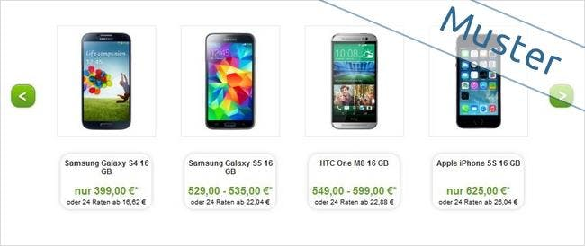 Smartphone-Angebote bei maXXim