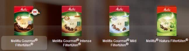 Ein Klassiker sind die Filtertüten von Melitta