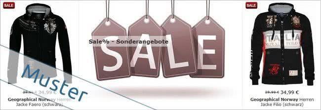Sparen bei ausgesuchten Produkten im Modestern-Sale