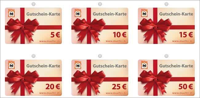 Gutscheinkarten von Müller zum Verschenken